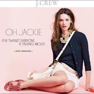J. Crew Merino Wool Jackie Twin Set Navy